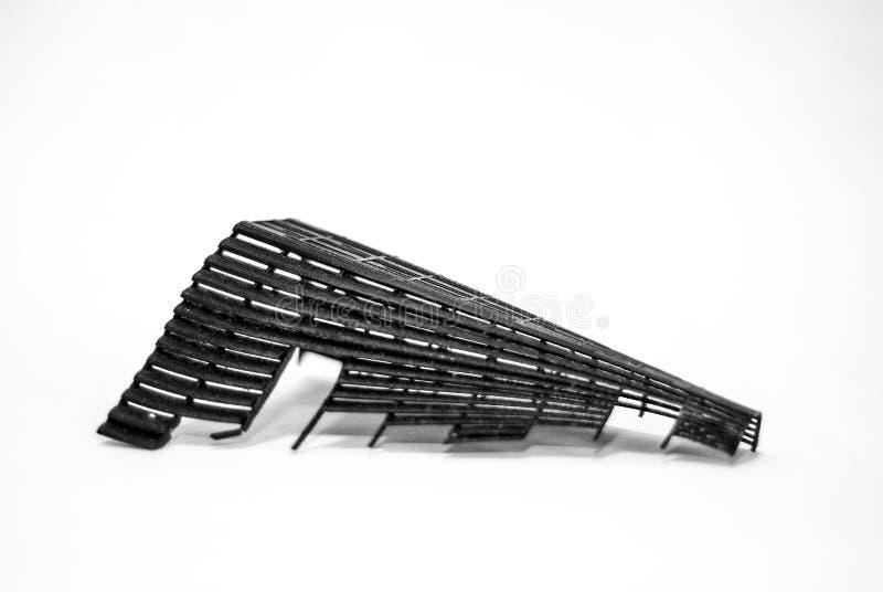 прототип напечатанный 3D стоковая фотография rf
