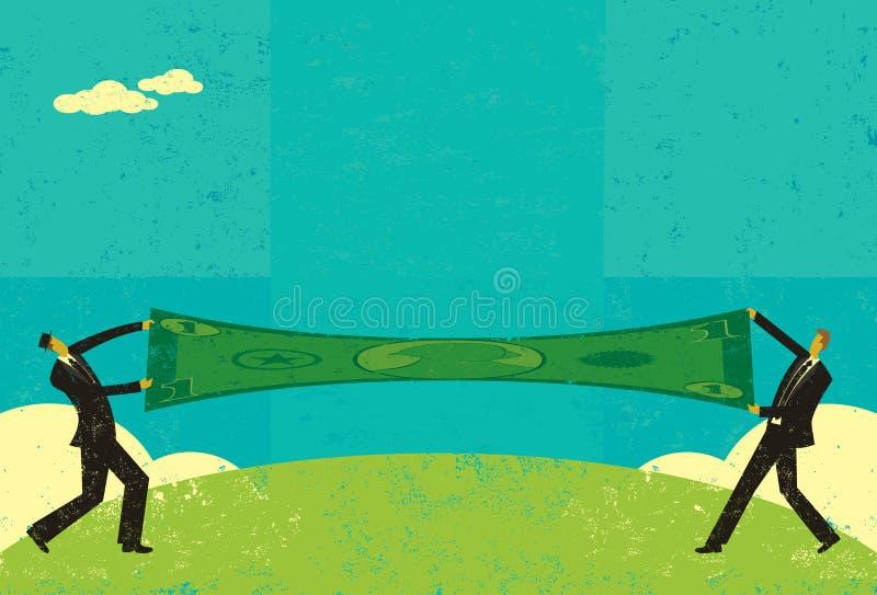 Протягивать доллар иллюстрация вектора