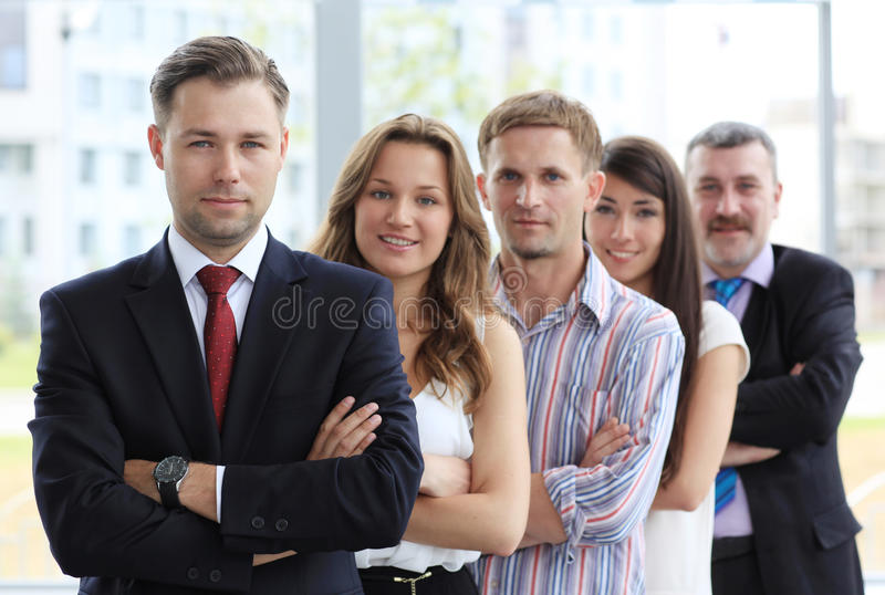 Профессиональная команда дела стоковое изображение