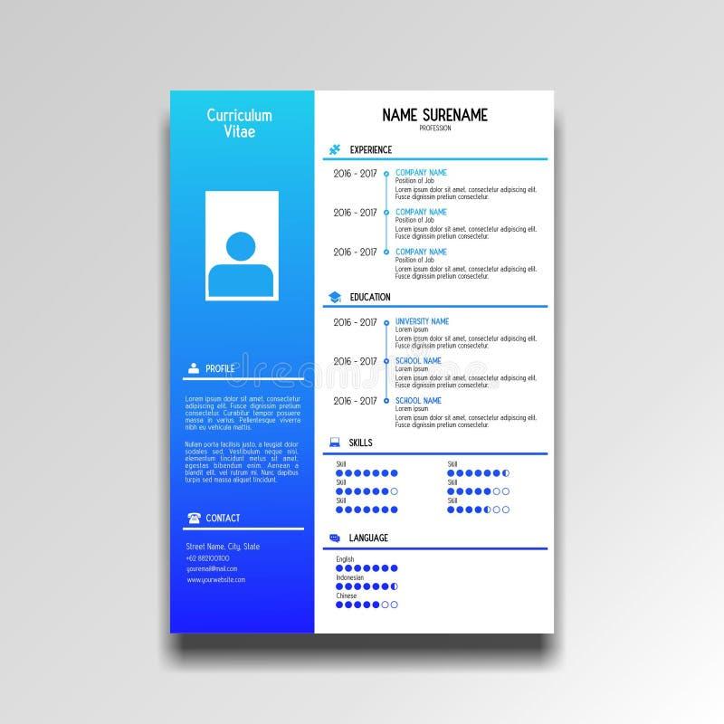 Профессиональная учебная программа - шаблон vitae стоковое фото rf