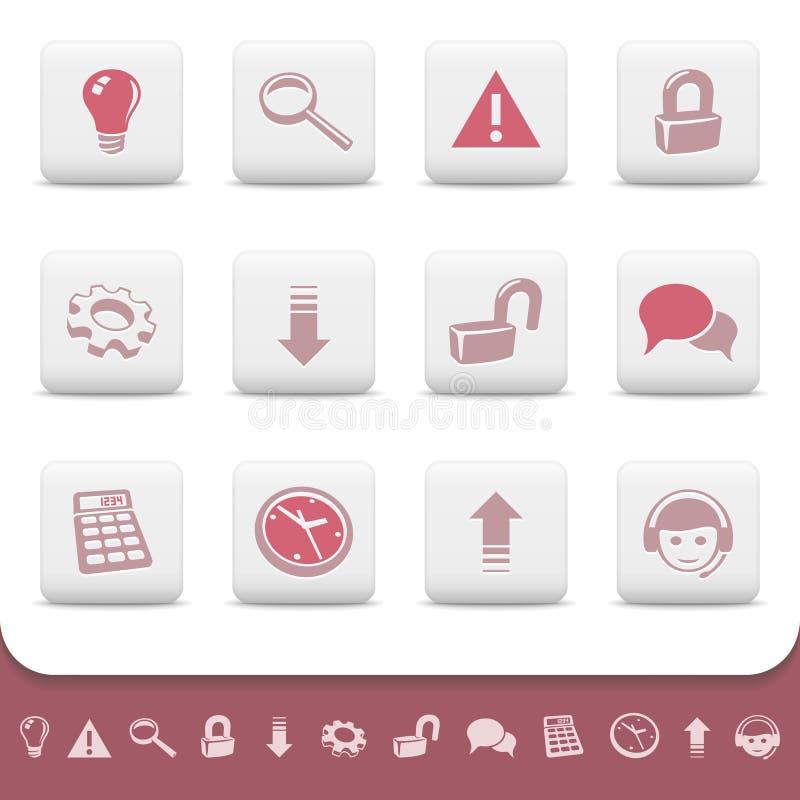 Профессиональный вектор кнопок икон сети установил 2 бесплатная иллюстрация