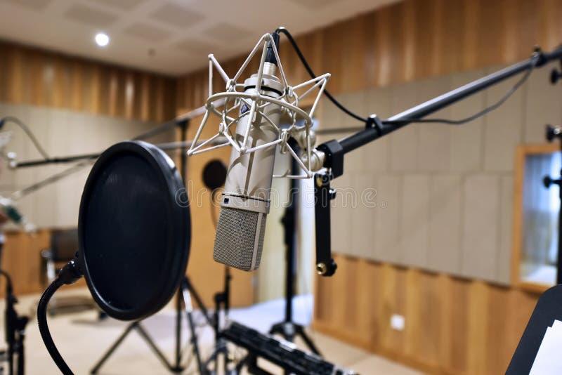 Профессиональный микрофон приемистости стоковое фото
