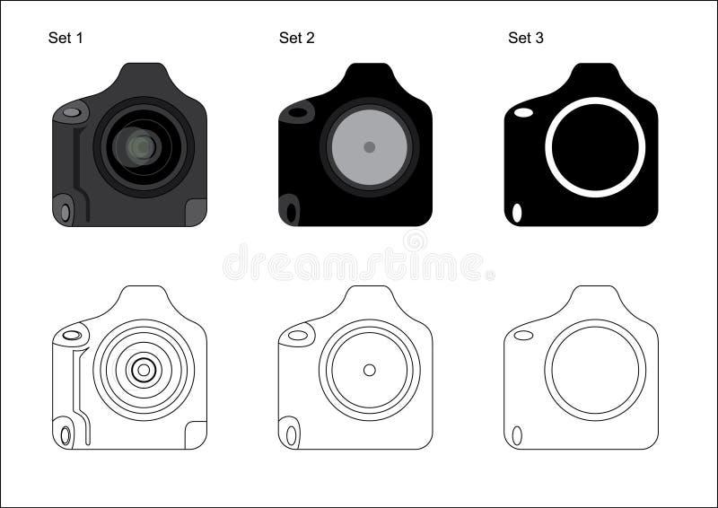 Download профессионал иконы Dslr камеры Иллюстрация вектора - иллюстрации насчитывающей знак, электронно: 6861782