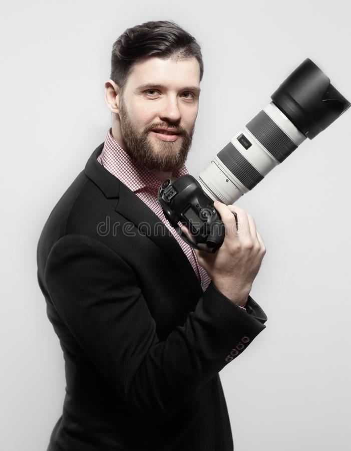 профессионал фотографа камеры цифровой Фото с космосом экземпляра стоковые фотографии rf