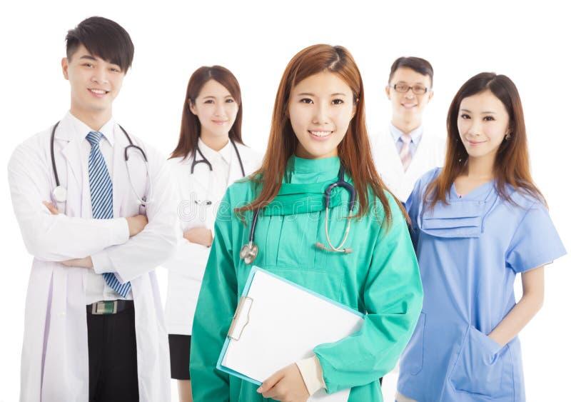 Профессиональное положение команды врача стоковая фотография