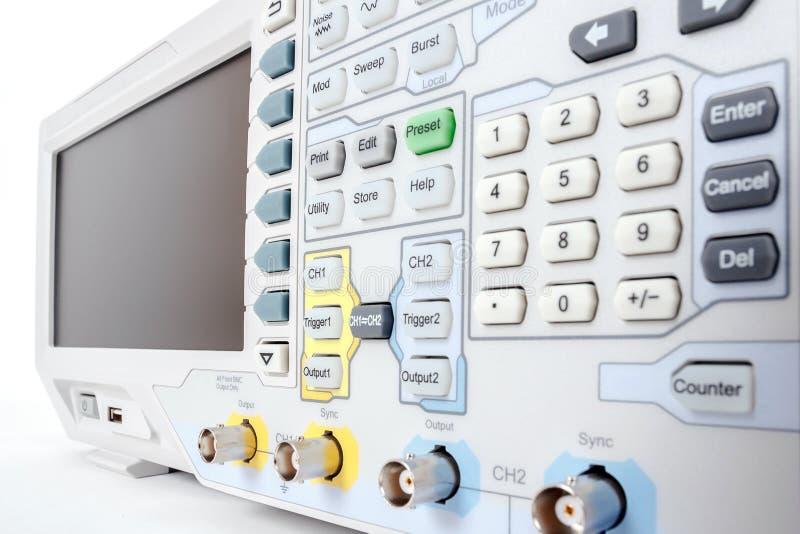 Профессиональное современное испытательное оборудование - анализатор стоковая фотография