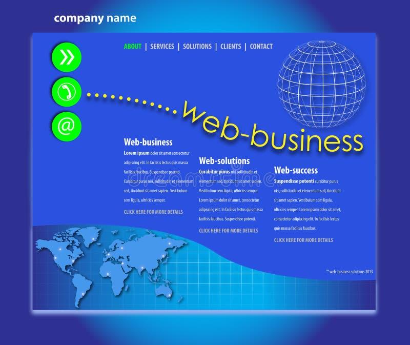Профессиональный шаблон вебсайта иллюстрация вектора