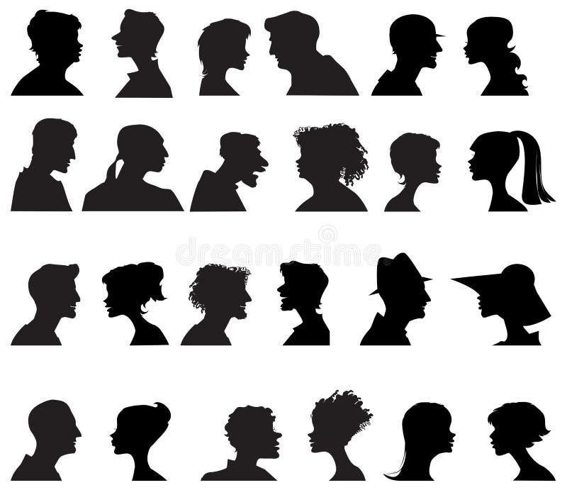 Download профили людей стоковое изображение. изображение насчитывающей люди - 25718917