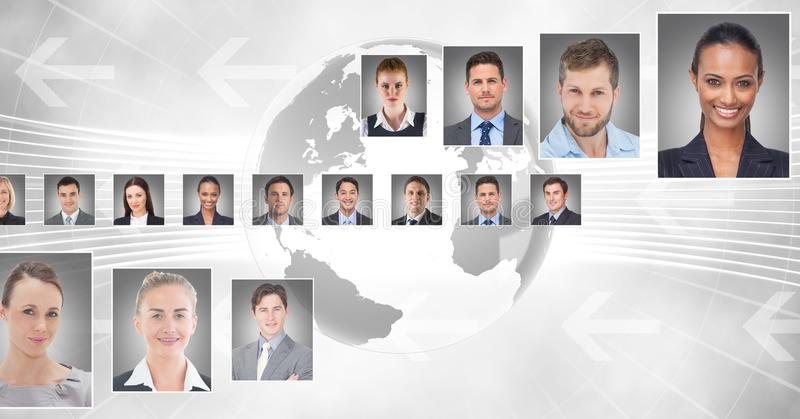 профили портрета различного люди стоковая фотография rf