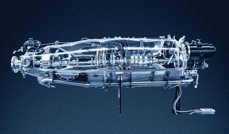 Профиль двигателя турбины Технологии авиации стоковая фотография rf