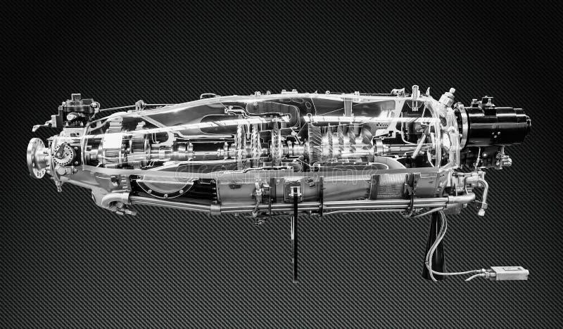 Профиль двигателя турбины Технологии авиации стоковые фото