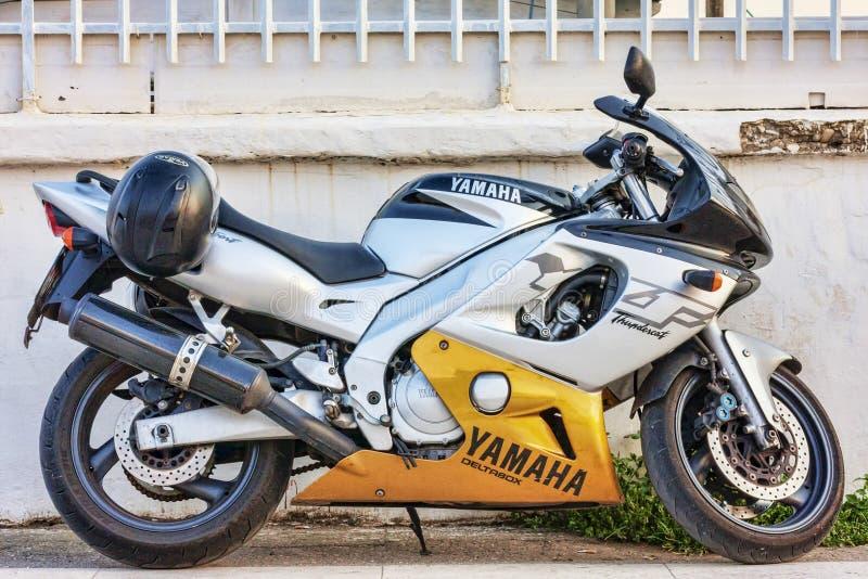 Профиль красоты мотоцикла грома Yamaha YZF600R Deltabox стоковое фото