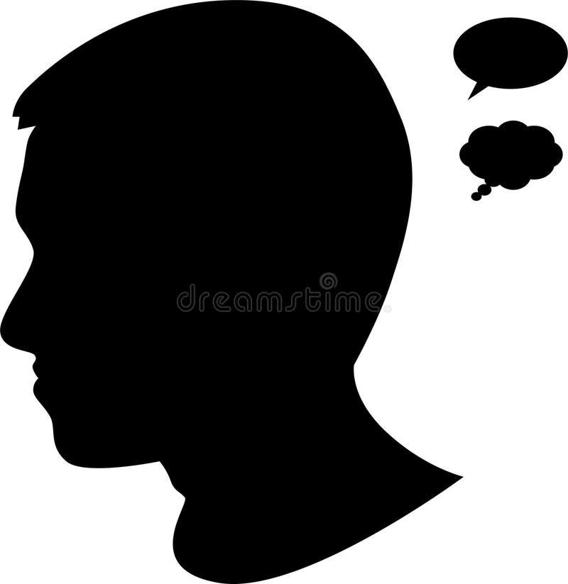 профиль человека бесплатная иллюстрация