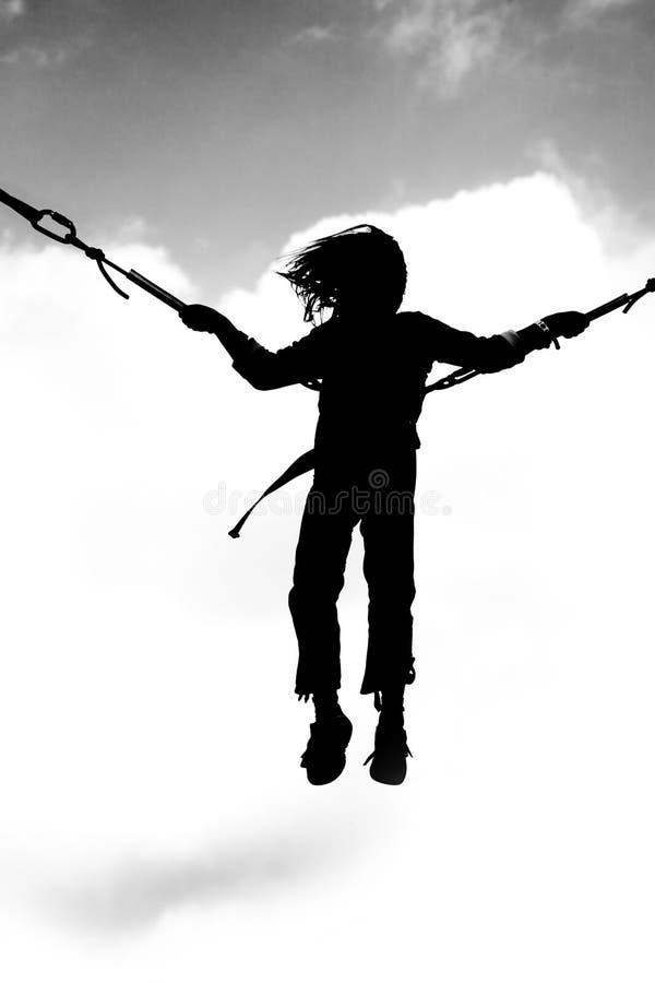 профиль bungee скача стоковое фото