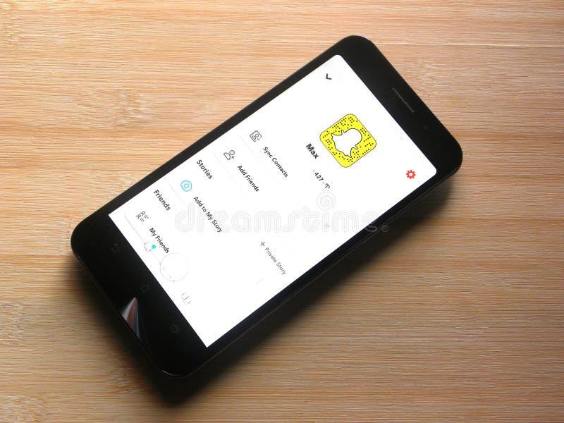 Профиль Snapchat стоковые фотографии rf