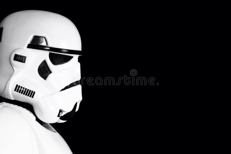 Профиль Stormtrooper стоковые изображения rf