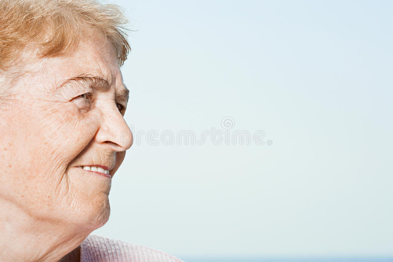профилируйте старшую женщину стоковое изображение