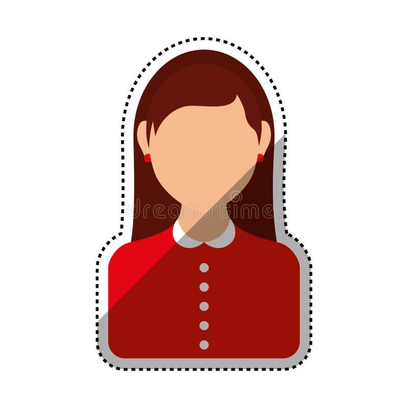 Профиль женщин безликий иллюстрация вектора