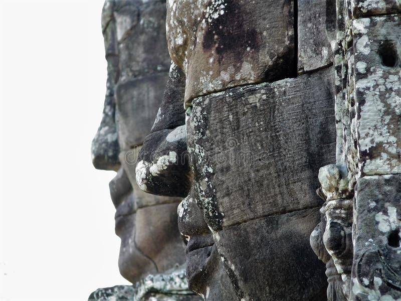 Профиль камбоджийской империи стоковое изображение