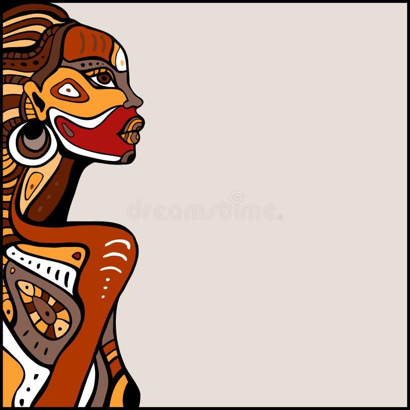 Профиль красивой африканской женщины иллюстрация вектора