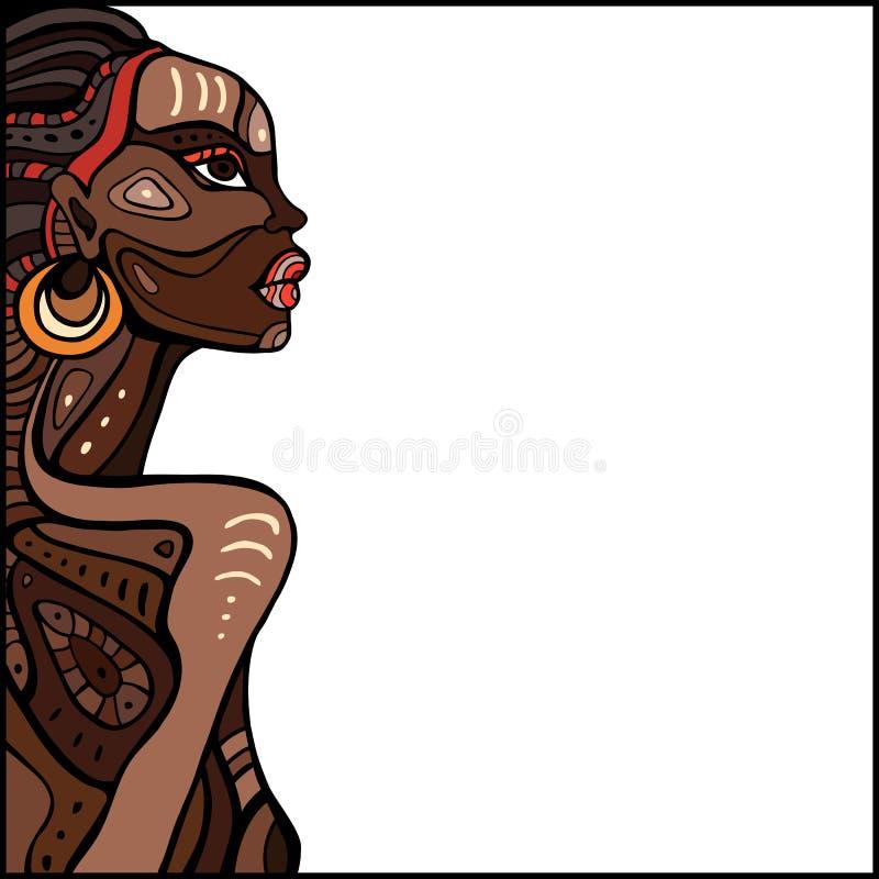 Профиль красивой африканской женщины бесплатная иллюстрация