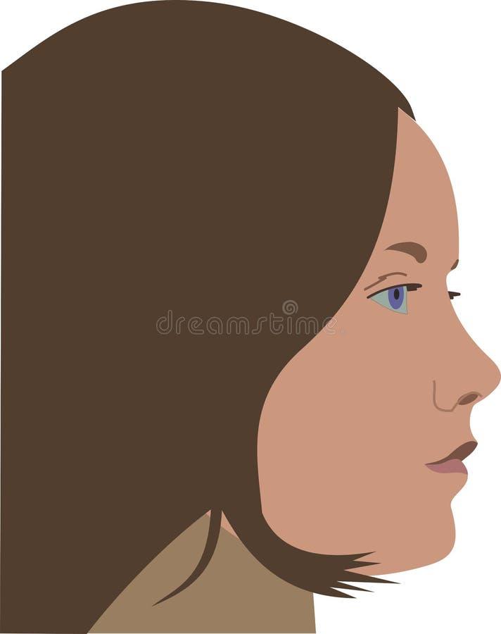 Профиль молодой женщины стоковые фото
