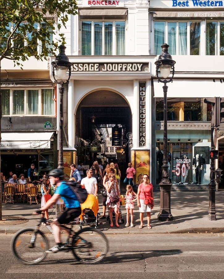 Проход Jouffroy, Париж, Франция стоковая фотография