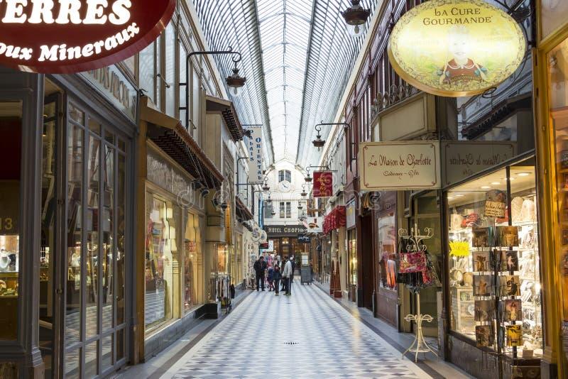 Проход Jouffroy, Париж, Франция стоковое фото