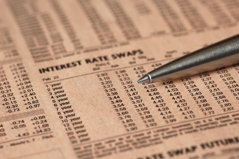 процентные ставки стоковое изображение rf