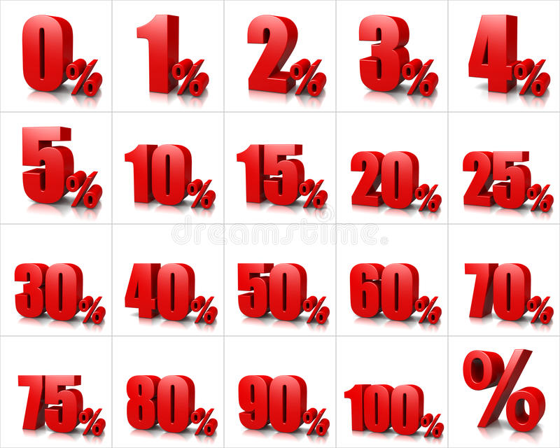 Процент нумерует серию иллюстрация вектора