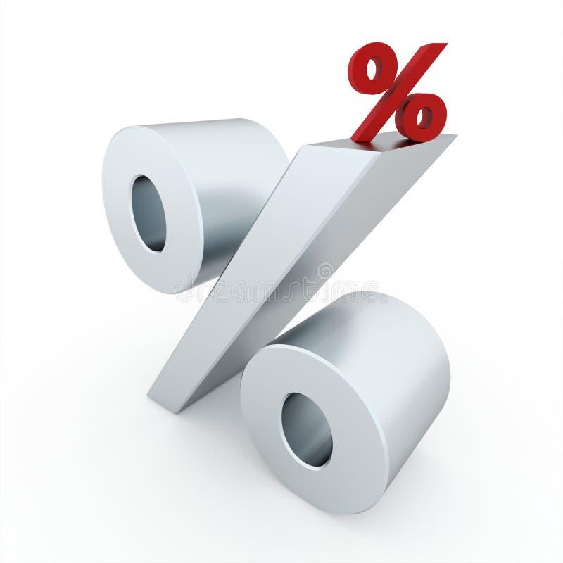 процент иллюстрация вектора