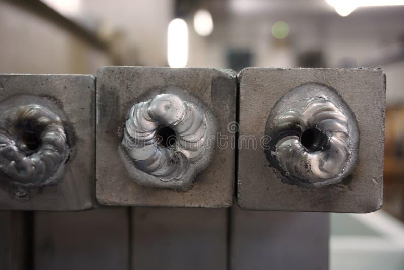 Процесс алюминия заварки стоковые изображения rf