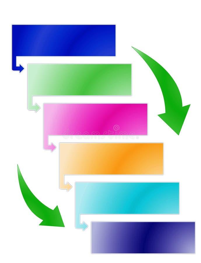 процесс диаграммы иллюстрация вектора