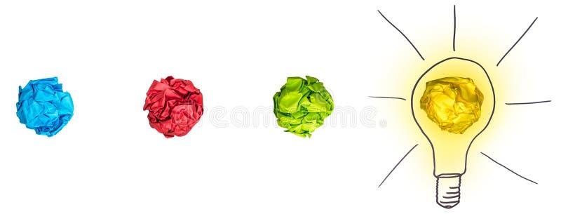 Процесс метода мозгового штурма иллюстрация вектора