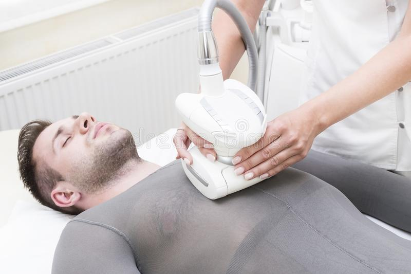 Процесс на lipomassage клиники стоковое изображение rf