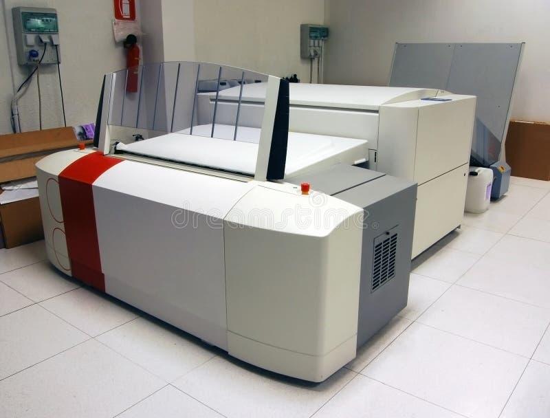 процесс печатания плиты ctp компьютера к стоковые изображения