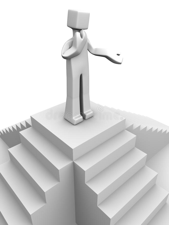 процесс принятия решений принципиальной схемы иллюстрация штока