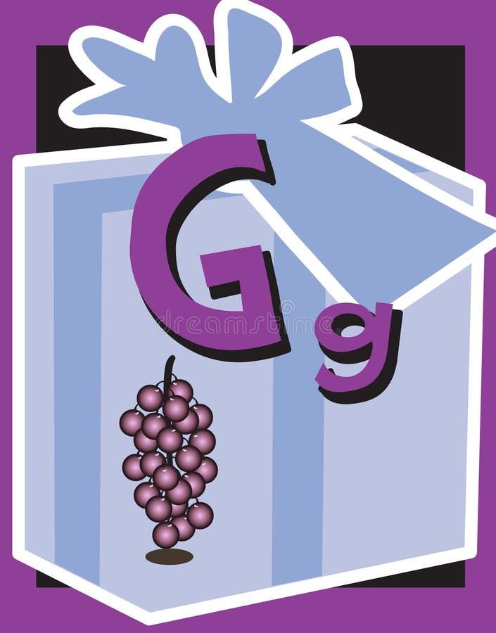 прочешите внезапные существительные письма g иллюстрация штока