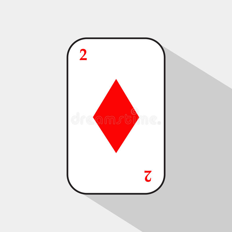 Прочешите 2 диаманта на белой предпосылке для того чтобы отделить легко иллюстрация вектора