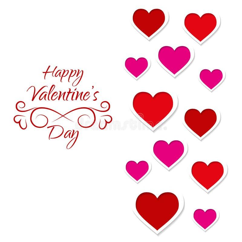 Прочешите на день валентинок с сериями сердец иллюстрация вектора