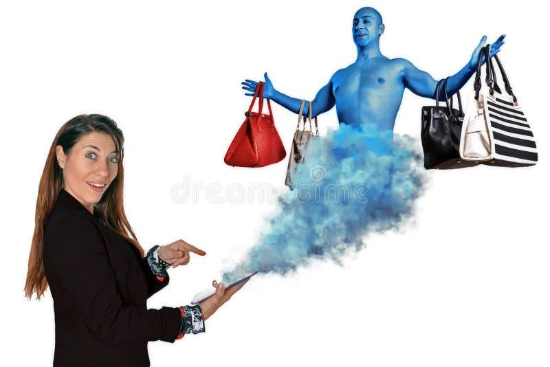 прочешите покупка руки фокуса dof он-лайн отмелая очень стоковые фото