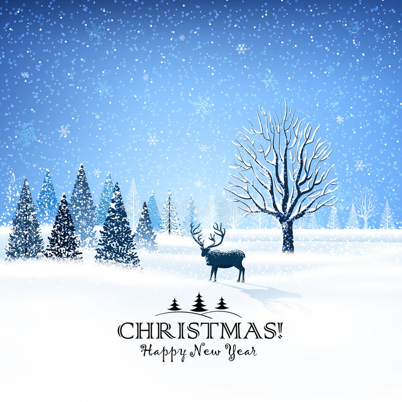 прочешите северный олень рождества бесплатная иллюстрация