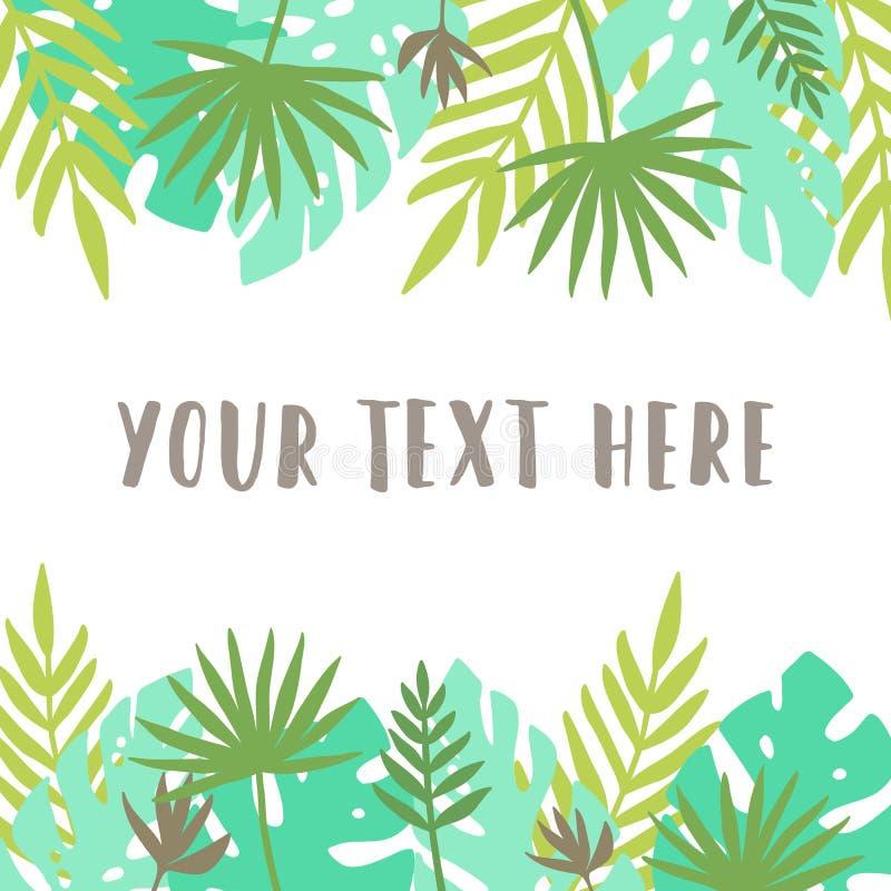 Прочешите шаблон листает тропическо иллюстрация вектора