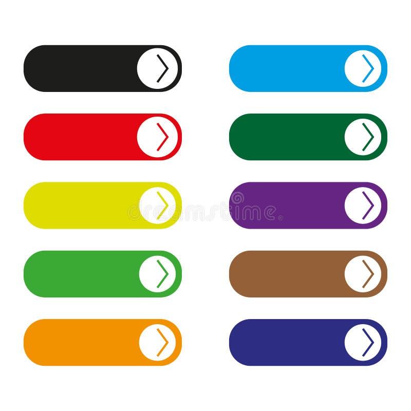 Прочитанный более красочный комплект кнопки бесплатная иллюстрация