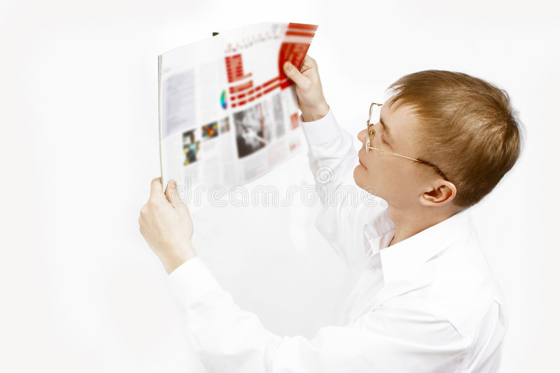 прочитанный человек кассеты стоковое изображение