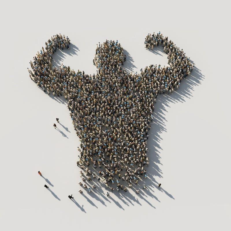 Прочность в всеединстве бесплатная иллюстрация