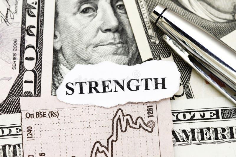 прочность дохода от бизнеса стоковое изображение