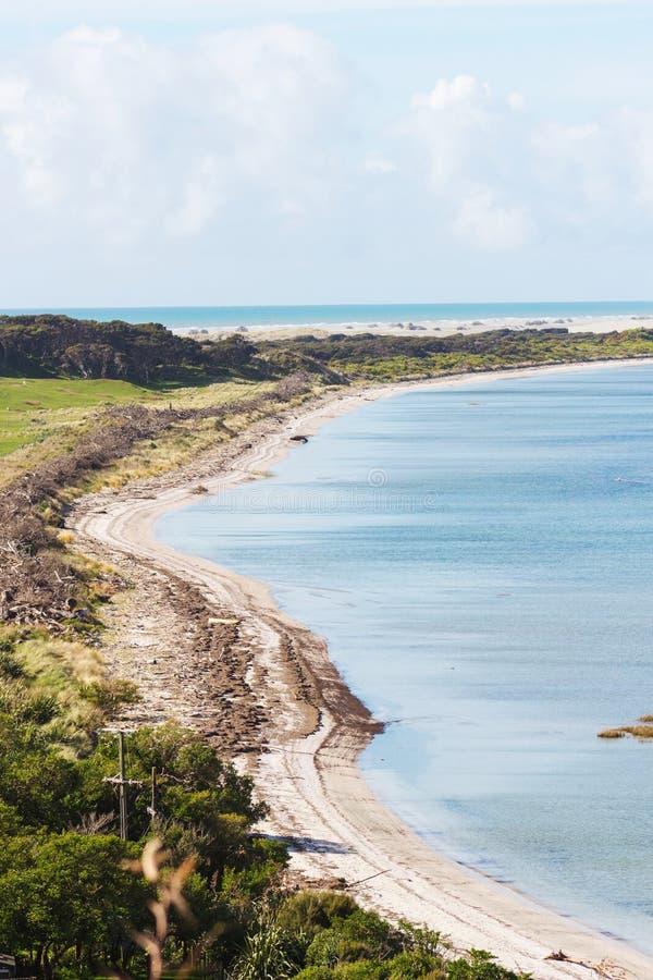 Прощальный вертел, золотой залив, Новая Зеландия стоковые фотографии rf