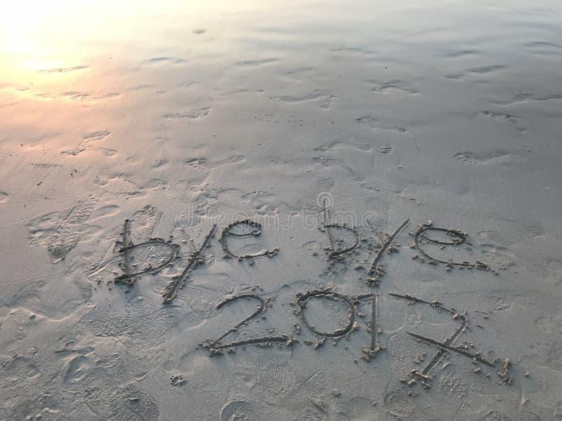 Прощальный год 2017 стоковые изображения rf