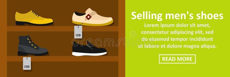 Продавать концепцию знамени ботинок людей горизонтальную бесплатная иллюстрация